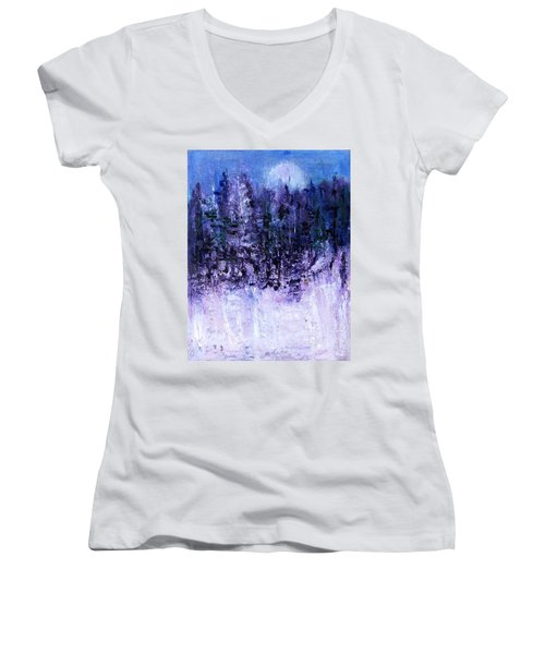 Neighbor's Woods Women's V-Neck T-Shirt