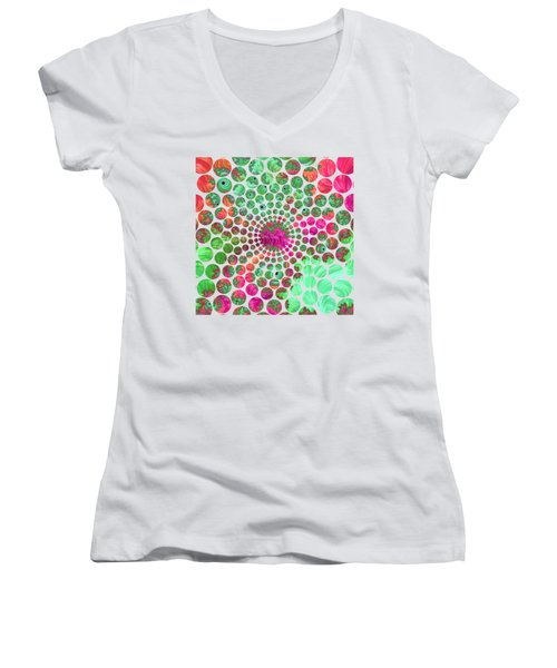 Neon Dream Women's V-Neck (Athletic Fit)