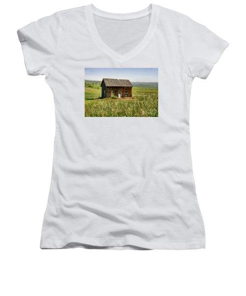 Nephi Moss Cabin Women's V-Neck T-Shirt