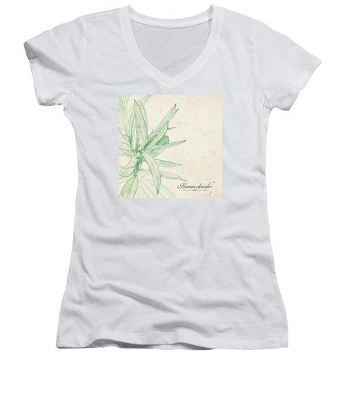 Nerium Oleander Women's V-Neck
