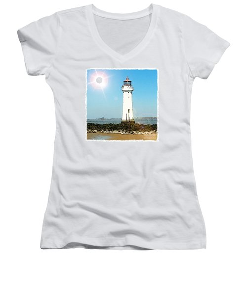 New Brighton Lighthouse Women's V-Neck (Athletic Fit)