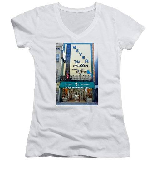 New Orleans Hatter Women's V-Neck T-Shirt