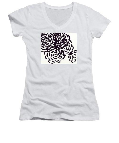 Floral Essence Women's V-Neck T-Shirt (Junior Cut) by Anita Lewis