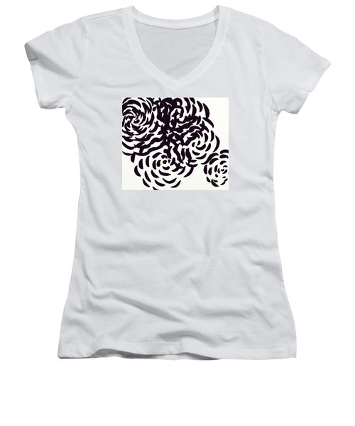 Floral Essence Women's V-Neck (Athletic Fit)