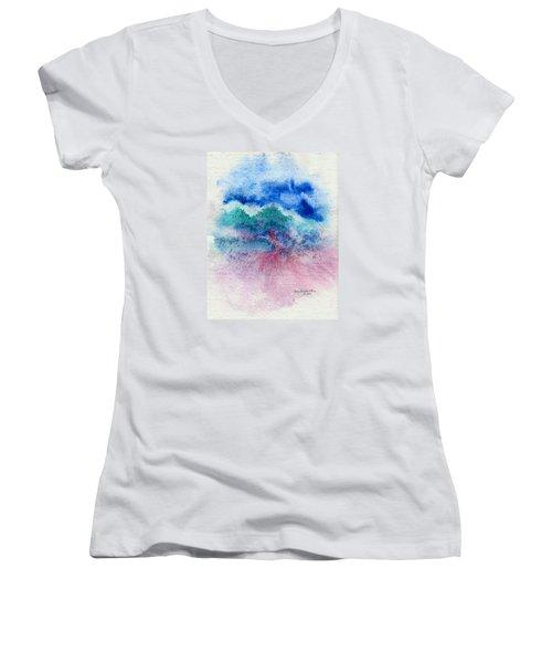 New Wave Women's V-Neck T-Shirt (Junior Cut) by Joan Hartenstein