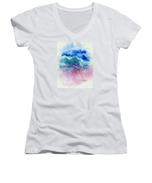 New Wave Women's V-Neck (Athletic Fit)