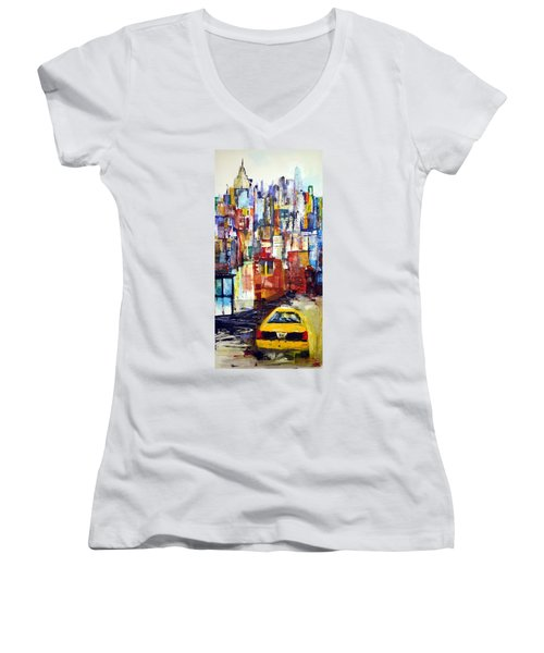 New York Cab Women's V-Neck