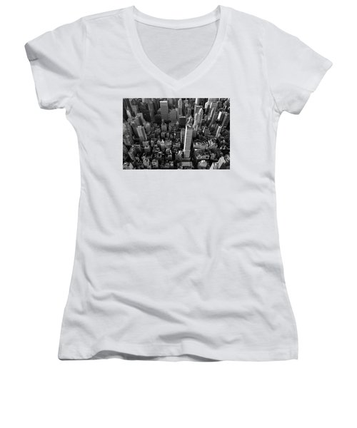 Women's V-Neck featuring the photograph New York, New York 5 by Ron Cline
