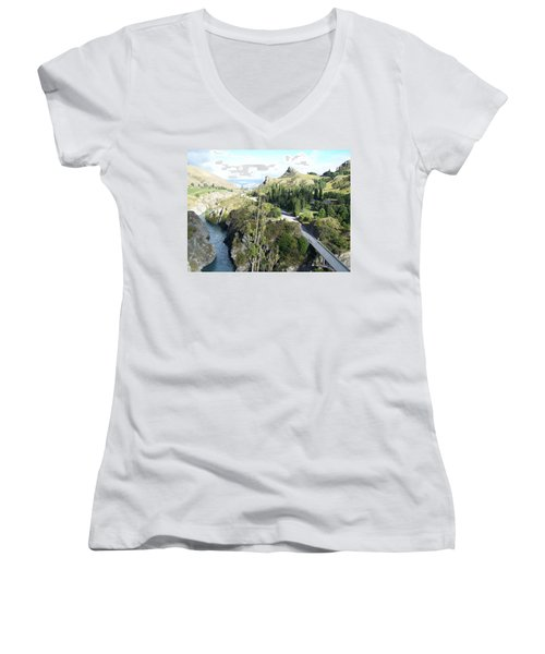 New Zealand Scene Women's V-Neck T-Shirt (Junior Cut)