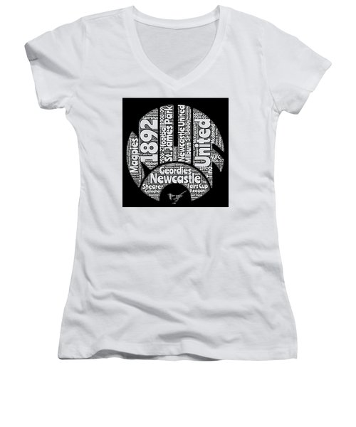 Newcastle United Football Club Word Art Women's V-Neck