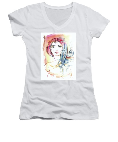 News From Outer Space Women's V-Neck T-Shirt