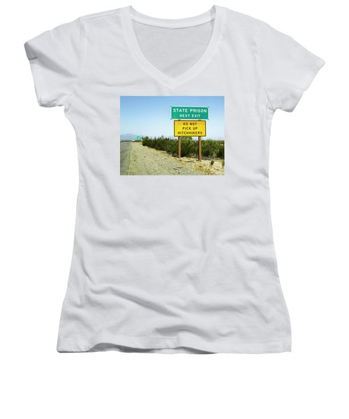 Next Exit Women's V-Neck T-Shirt