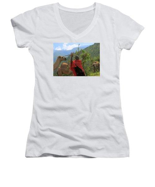 Ngorongoro Herder Women's V-Neck T-Shirt
