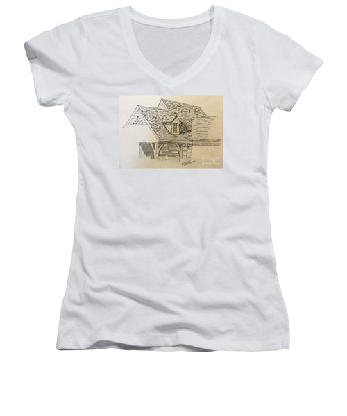Nice Lines Women's V-Neck (Athletic Fit)