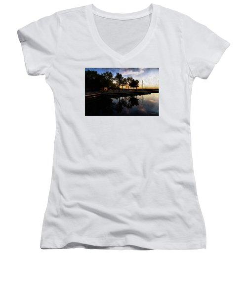 Night Harbour Women's V-Neck T-Shirt