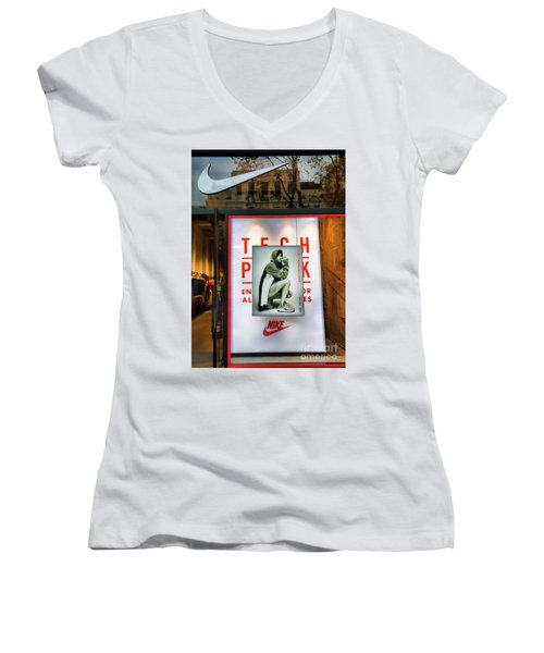 Nike Color Retail Store Barcelona Retail  Women's V-Neck (Athletic Fit)