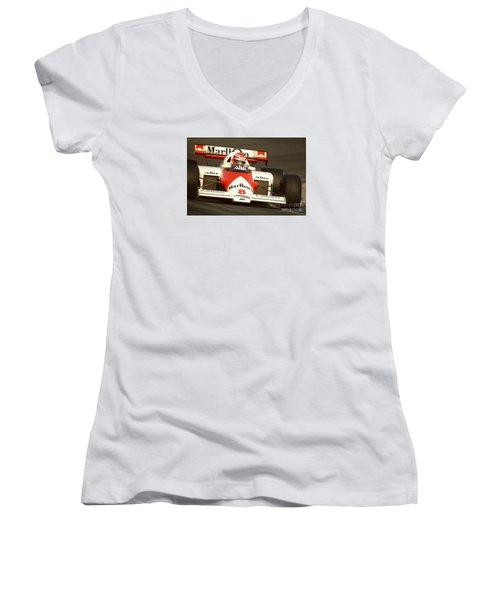 Niki Lauda. 1984 Dutch Grand Prix Women's V-Neck T-Shirt