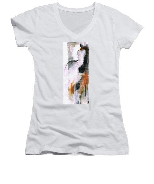 Nm Sketch Two Women's V-Neck T-Shirt (Junior Cut) by Frances Marino