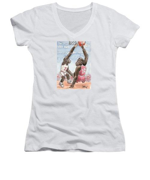 No No No Women's V-Neck T-Shirt (Junior Cut) by George I Perez