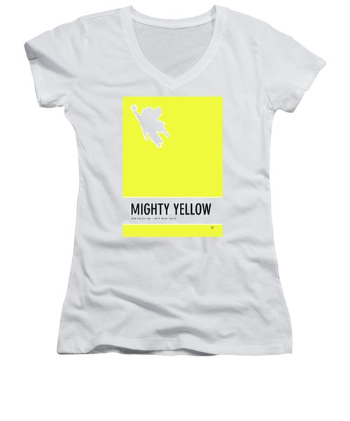 No02 My Minimal Color Code Poster Mighty Mouse Women's V-Neck (Athletic Fit)
