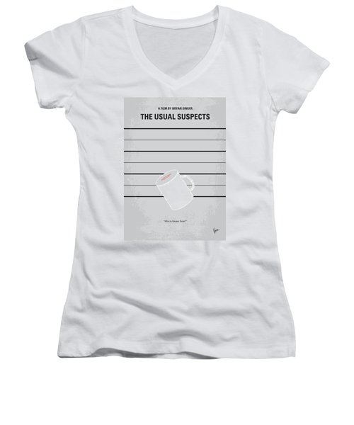 No095 My The Usual Suspects Minimal Movie Poster Women's V-Neck