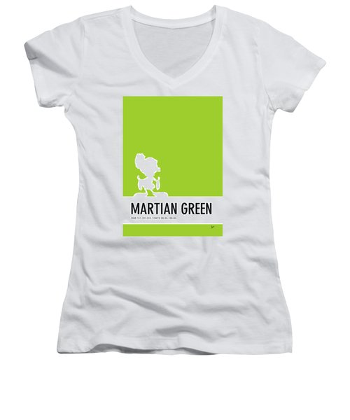 No15 My Minimal Color Code Poster Marvin Women's V-Neck (Athletic Fit)