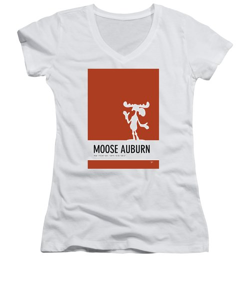 No19 My Minimal Color Code Poster Bullwinkle Women's V-Neck (Athletic Fit)