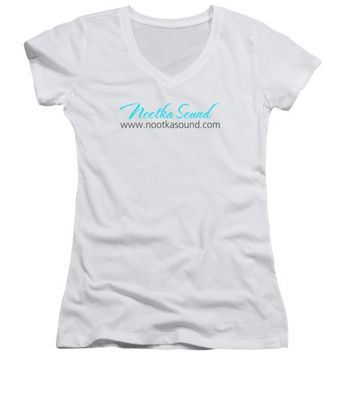 Nootka Sound Logo #11 Women's V-Neck T-Shirt (Junior Cut) by Nootka Sound