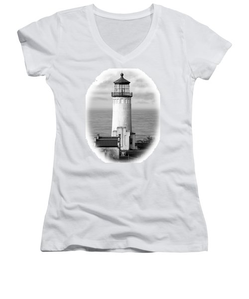 North Head Lighthouse Black And White Photograph Women's V-Neck (Athletic Fit)