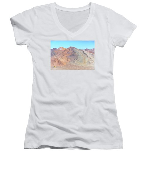Women's V-Neck featuring the photograph North Of Avawatz Mountain by Jim Thompson