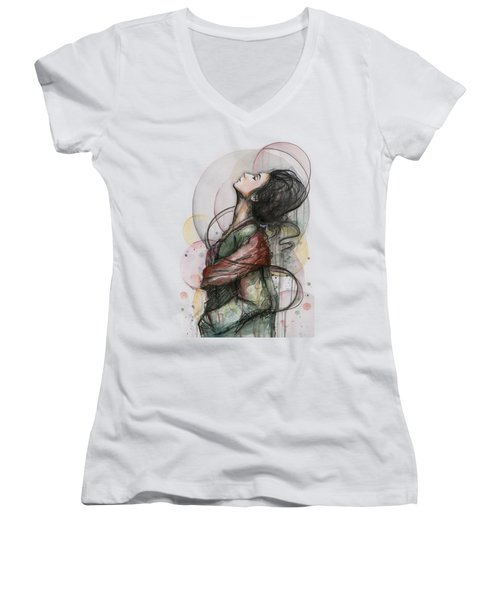 Beautiful Lady Women's V-Neck