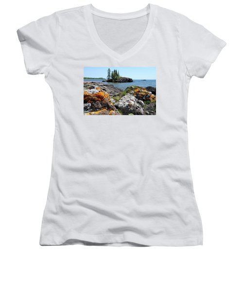 North Shore Beauty Women's V-Neck T-Shirt (Junior Cut) by Sandra Updyke