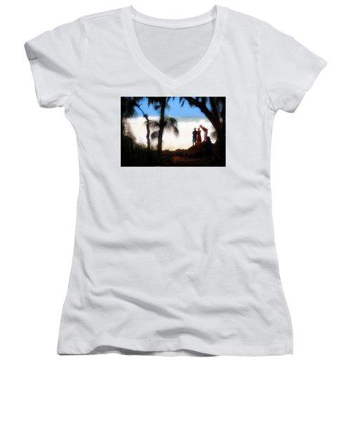 North Shore Wave Spotting Women's V-Neck T-Shirt (Junior Cut)