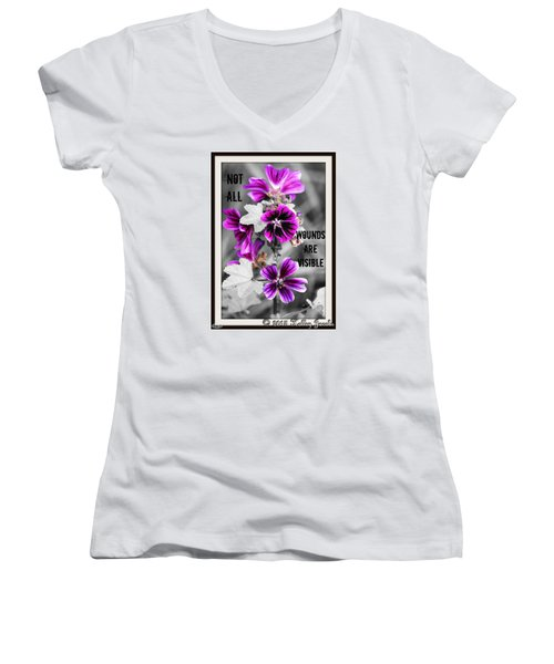 Not All Wounds Women's V-Neck T-Shirt