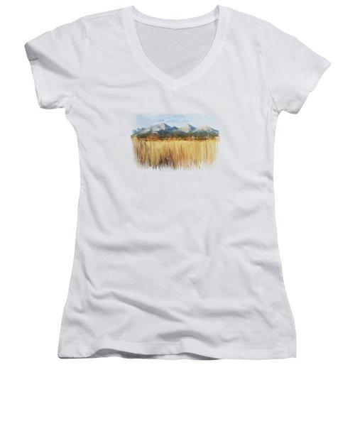 Not Far Away Women's V-Neck T-Shirt (Junior Cut) by Ivana Westin