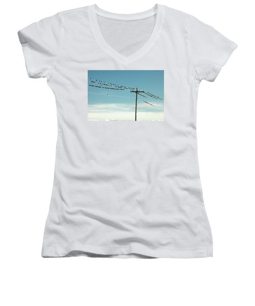 Not Like The Others Women's V-Neck T-Shirt (Junior Cut) by Todd Klassy
