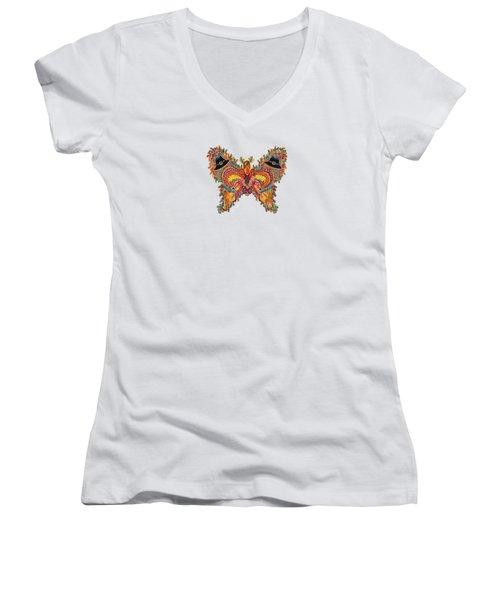November Butterfly Women's V-Neck (Athletic Fit)