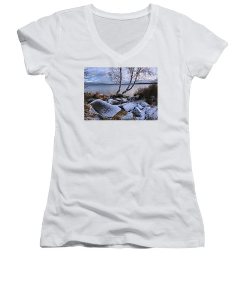 November Day Women's V-Neck T-Shirt (Junior Cut)