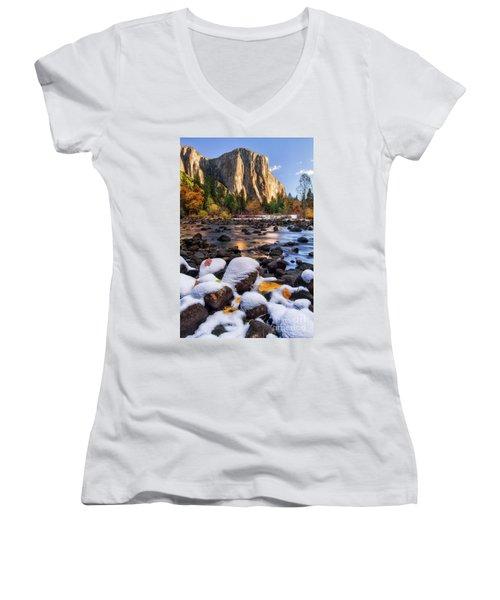 November Morning Women's V-Neck T-Shirt