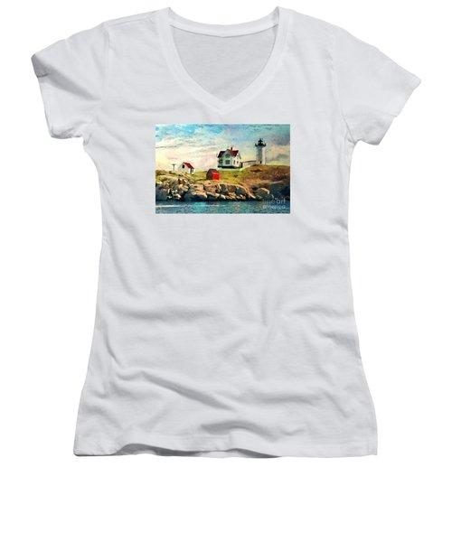 Nubble Light - Painted Women's V-Neck T-Shirt