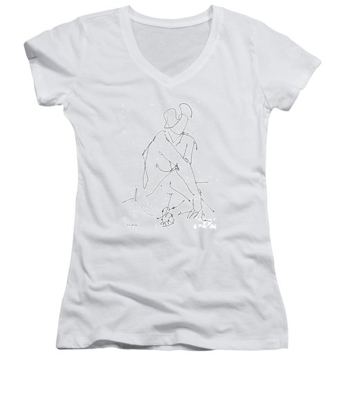 Nude-female-drawing-19 Women's V-Neck