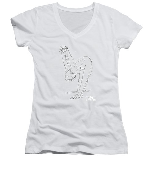 Nude Female Drawings 10 Women's V-Neck