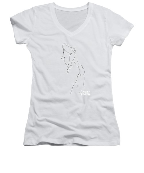Nude Female Drawings 11 Women's V-Neck