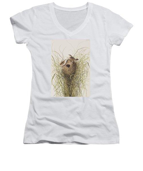 Nuttall's Lesser-marsh Wren  Women's V-Neck T-Shirt