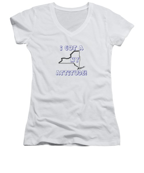 Ny Attitude Yankee Colors Women's V-Neck