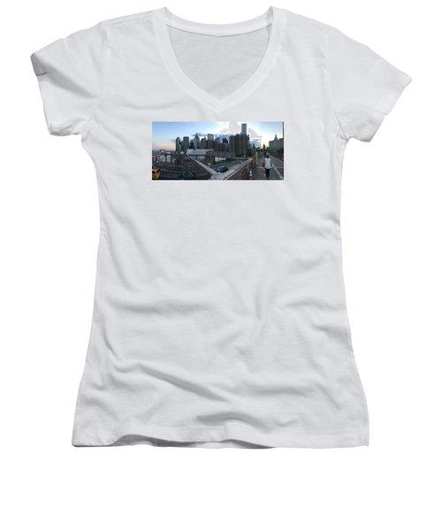 NYC Women's V-Neck T-Shirt (Junior Cut) by Ashley Torres