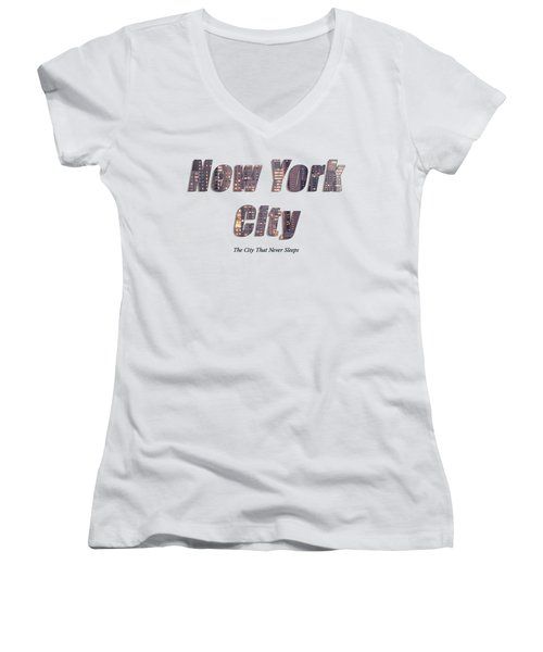 Nyc T-shirt Women's V-Neck T-Shirt