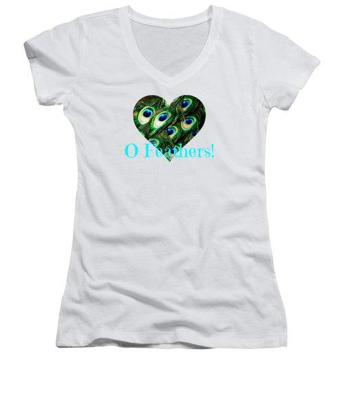 O Feathers Women's V-Neck T-Shirt