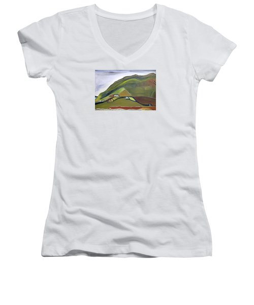 O Mountains That You Skip Women's V-Neck (Athletic Fit)