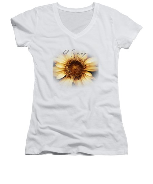 O Sunny  Women's V-Neck (Athletic Fit)